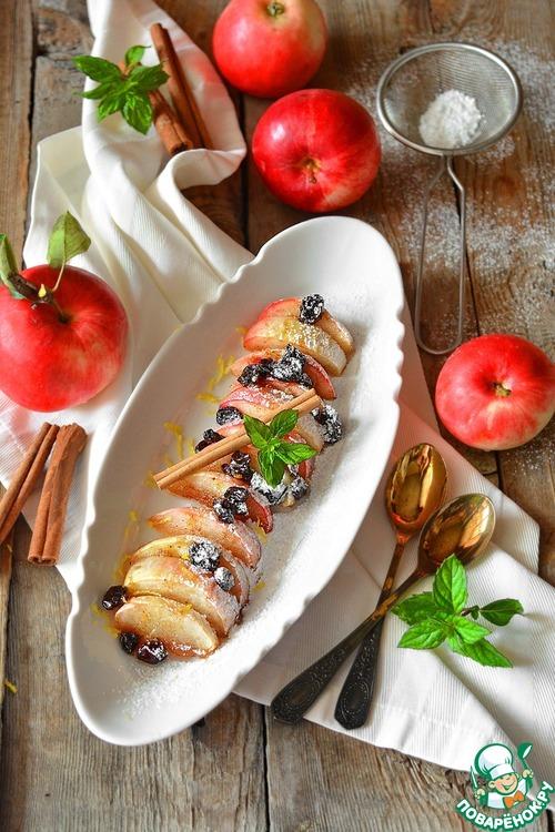 Печёные яблоки за три минуты