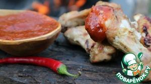 Рецепт: Куриные крылышки в остром томатном соусе