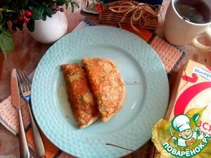 Рецепт: Овсяные блинчики с жареными маслятами