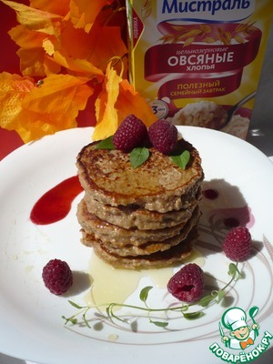 Рецепт: Диетические банановые оладьи к завтраку