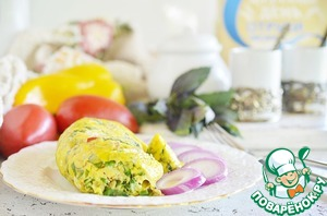 Рецепт: Овощной омлет с отрубями в пакете