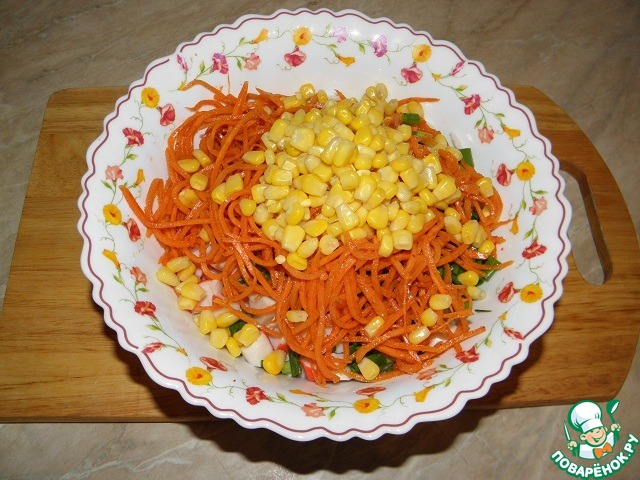 Салатыы с морковкой корейской