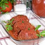 Мясные котлеты в томатном соусе