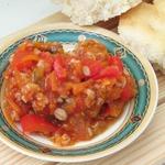 Салат с овощами и полбой на зиму