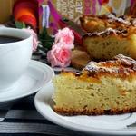 Быстрый персиковый пирог