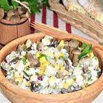 "Салат с кукурузой и опятами ""Орфей"""