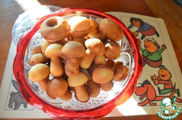 Рецепт печенья в форме на газу грибочки
