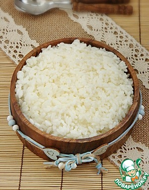Garnish crumbly rice