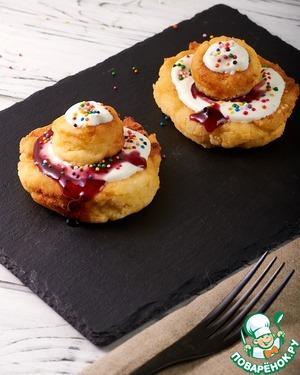 """Рецепт: Румынские пончики """"Папанаши"""""""