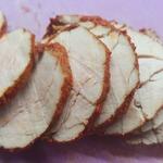 Подваренная свиная вырезка и грудинка