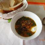 Суп грибной с репой и морковью