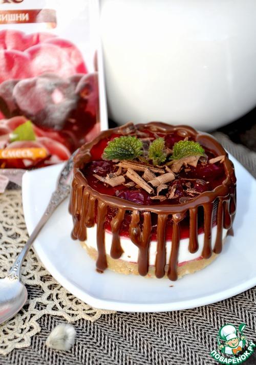 """Желейное пирожное """"Госпожа вишня"""""""