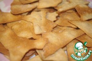 Рецепт: Печенье на рассоле из цельнозерновой муки
