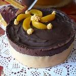 Шоколадный тарт с шоколадно-апельсиновым муссом