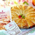 Пирог рожковый с карамельными яблоками