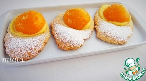 Персиковые медальоны с ванильным кремом