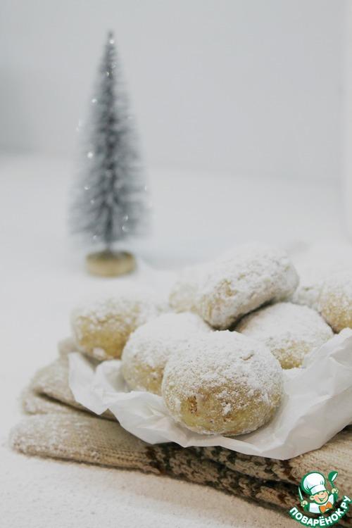 """Печенье """"Снежки"""" с миндалем"""