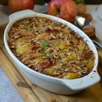 Запеканка картофельная с яблоками и орехами