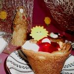 Блины с фруктами Лукошко