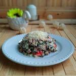 Салат с морской капустой и рыбой