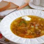 Чечевичный суп с домашней курицей