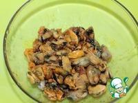 Итальянский суп с рисом и мидиями Масло растительное