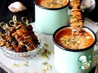 Итальянский суп с рисом и мидиями Сахар