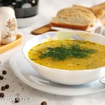 Легкий суп с манкой