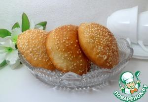 Рецепт: Пончики в кунжуте