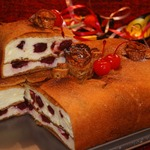 Двухслойный блинный пирог