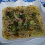 Суп рисовый с брокколи и копчёностями