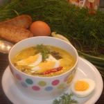 Шпинатный суп с лимонной заправкой