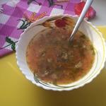 Суп гороховый со свиной грудинкой