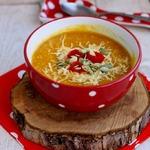 Острый тыквенный суп с кускусом