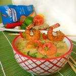 Суп с морепродуктами и рисом