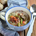 Суп с рисовой лапшой и рисом