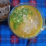 Суп с рисом и арахисовой пастой