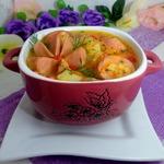 Суп из чечевицы с сардельками