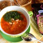 Постный фасолево-томатный суп
