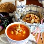 Постный картофельный суп с рисом