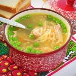 Фасолево-вермишелевый суп
