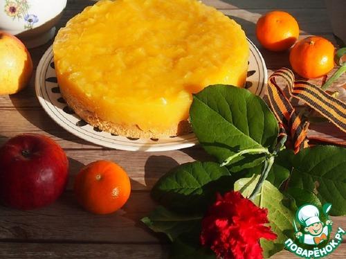 Ореховый яблочно-апельсиновый торт