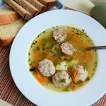 Суп с мясными ёжиками
