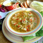 Суп с рулетиками на семолине