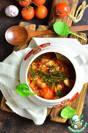 Суп с бараниной и паприкой