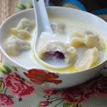Молочный суп с варениками