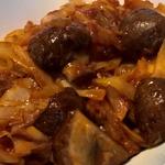 Жареная капуста с грибами