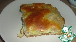 Рецепт: Мясной пирог на раз, два, три