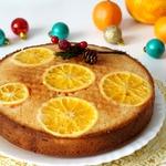 Быстрый апельсиновый пирог-перевёртыш