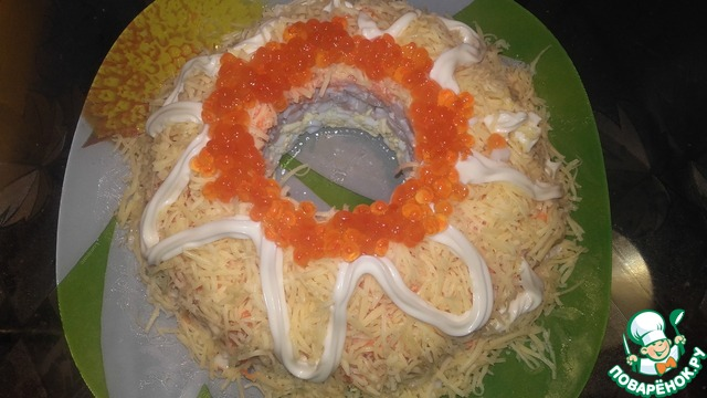 Салат морская пена рецепт